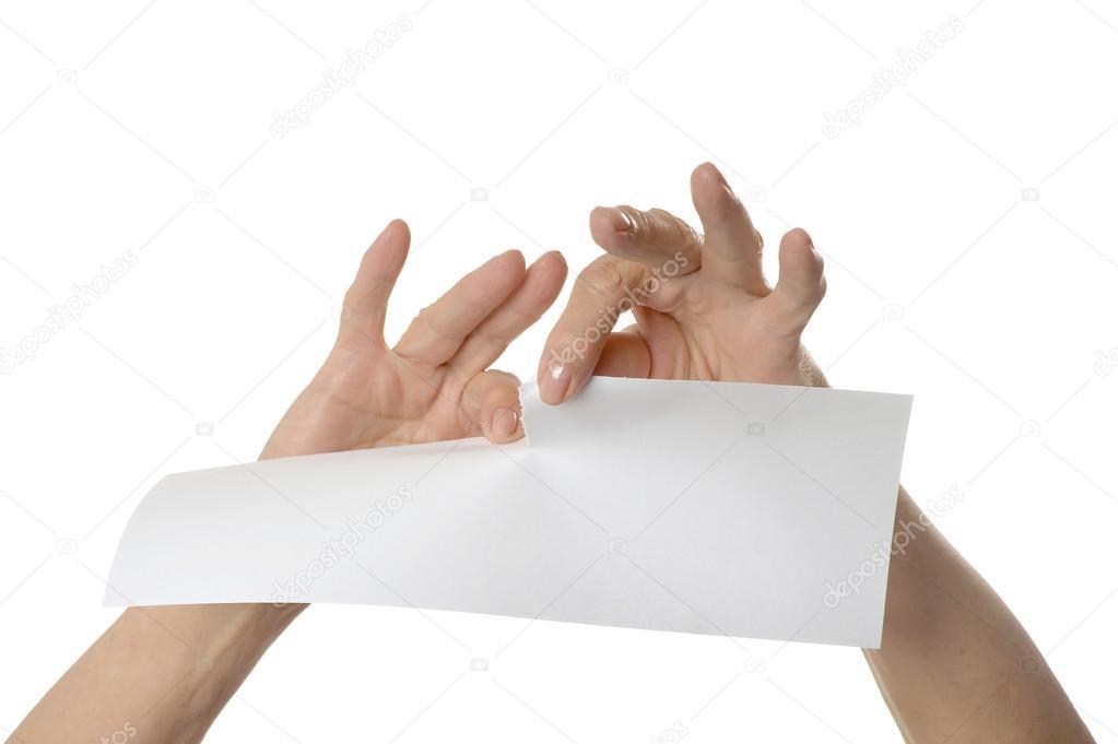 Resultado de imagen de rasgar papel