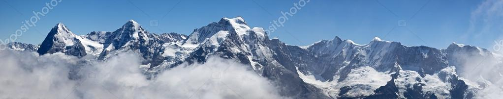 Panorama from Schilthorn stock vector