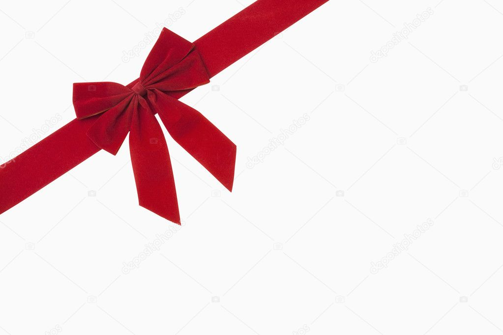 Red Christmas Bow Stock Photo Image By C Ccstockmedia 13594655