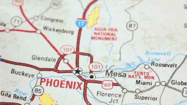 Karte von Phoenix, arizona — Stockvideo © CCStockMedia #34323767
