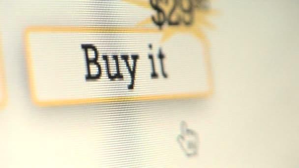 804589f717b1 курсора, нажав на кнопку Купить — Стоковый видеоролик © CCStockMedia ...