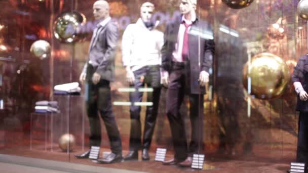 Dummies in a trading show-window