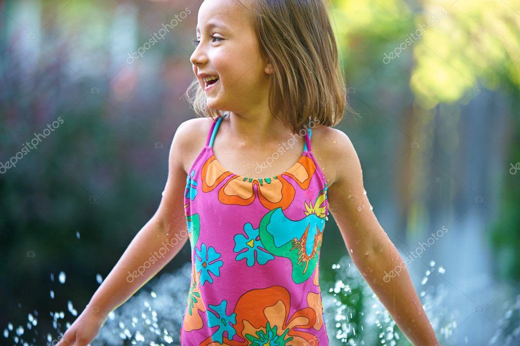 Little Girl Summer Splash