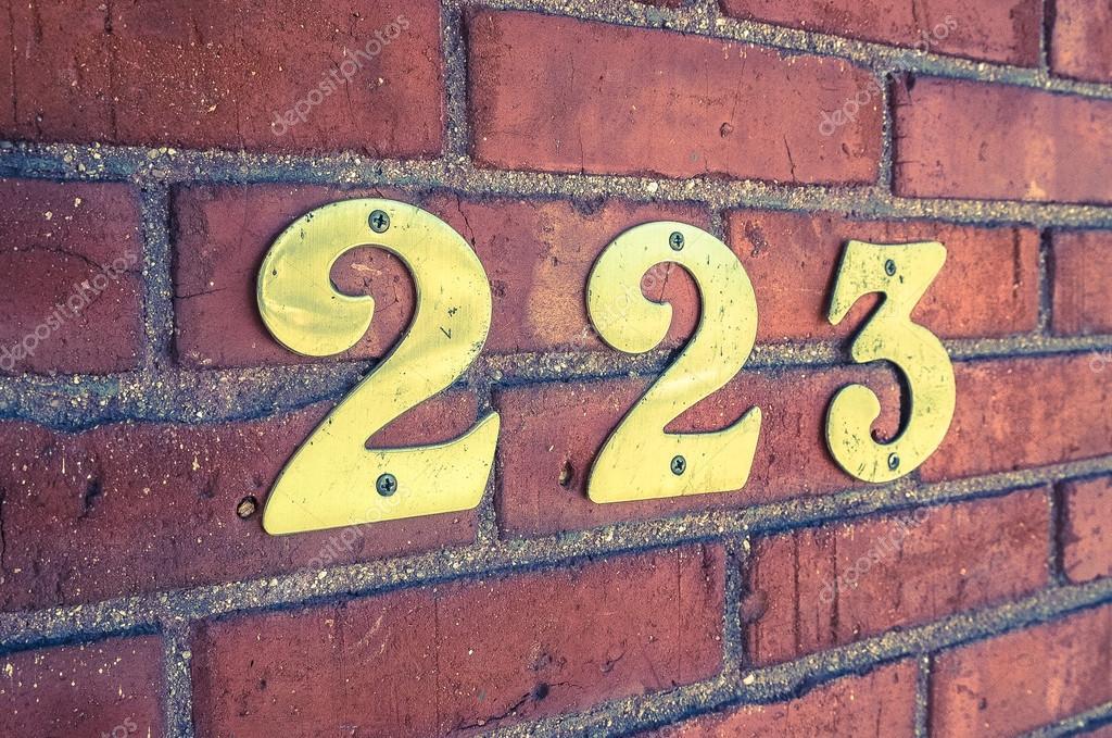 Address Number Closeup