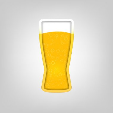 Illustration with a glass of beer