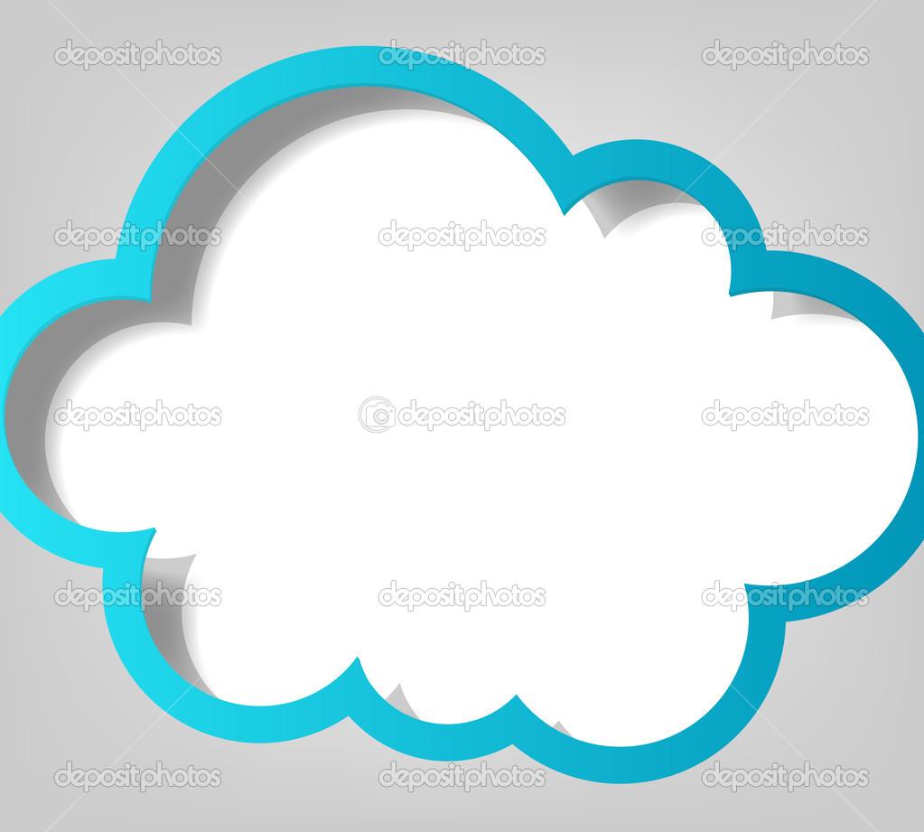 Plantilla De Cartel Nube Azul Archivo Im 225 Genes