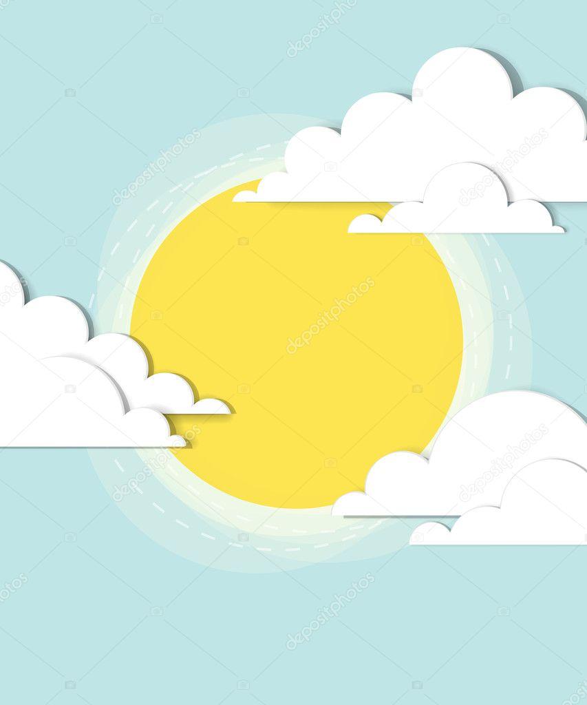 Sun in the clouds