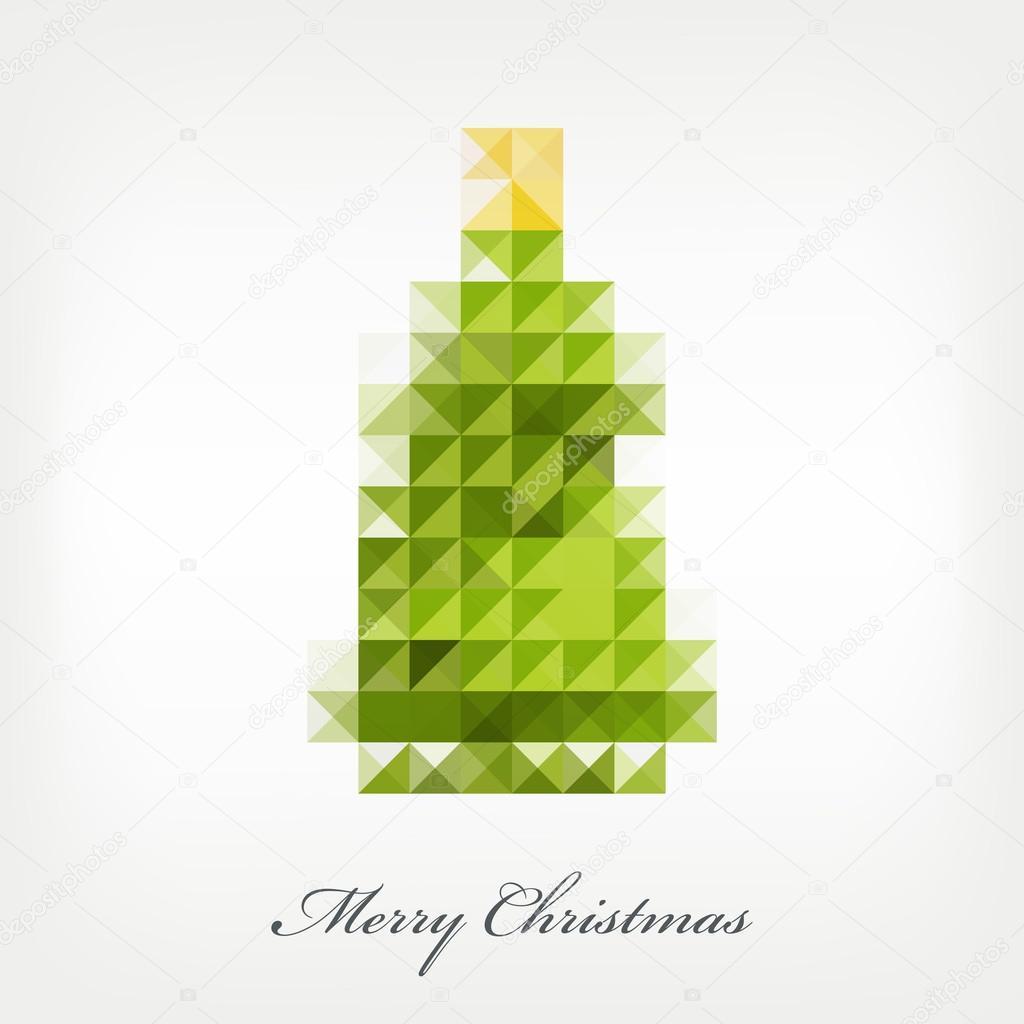 Pixel christmas tree — Stock Vector