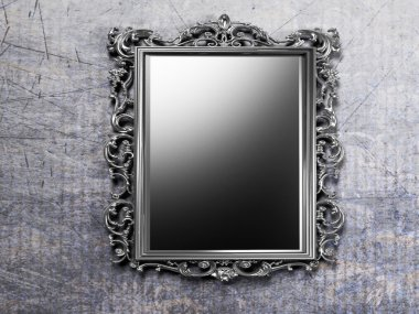 Retro antique mirror on the wall