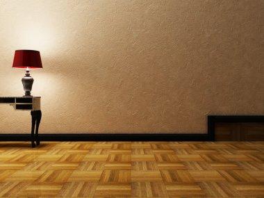 Beautiful classic lamp in an room