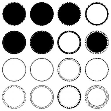 Vector collection of decorative circle frames