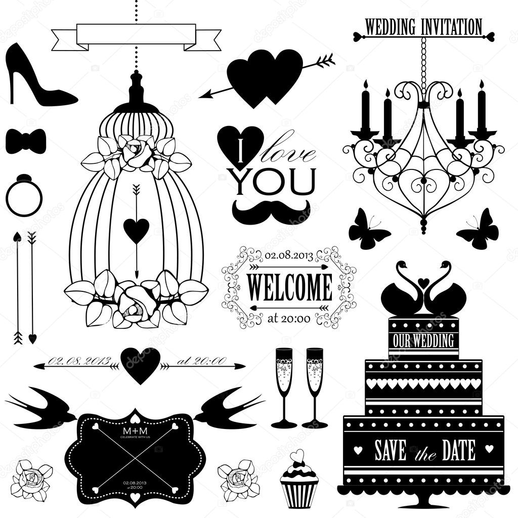 Decorative wedding design elements and signs stock vector decorative wedding design elements and signs stock vector junglespirit Choice Image