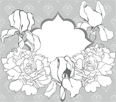 Vintage design for wedding card or invitation