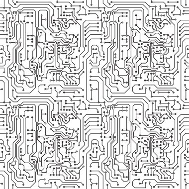 Vector abstract seamless background electronic circuit board stock vector