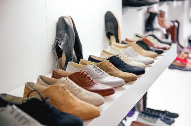 Variety of leather shoes