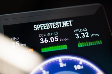 Speedtest.net main screen
