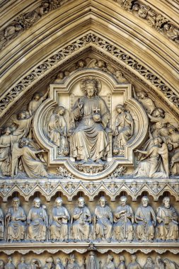 Westminster Ammey Entrance in London England bas relief