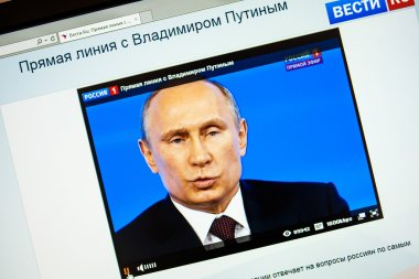 Russian President Vladimir Putin's annual televised call-in with