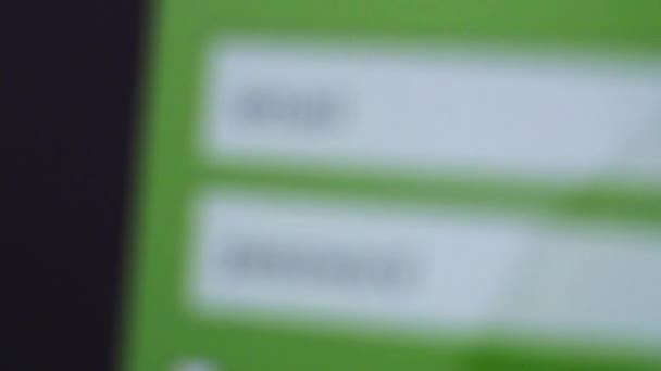Pole přihlašovací jméno a heslo