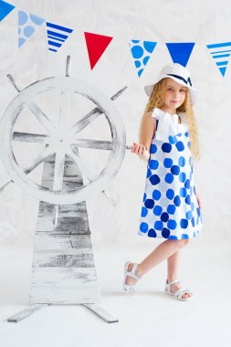 Summer style girl in fashion dress