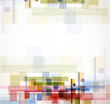 Abstract bright technology cube background