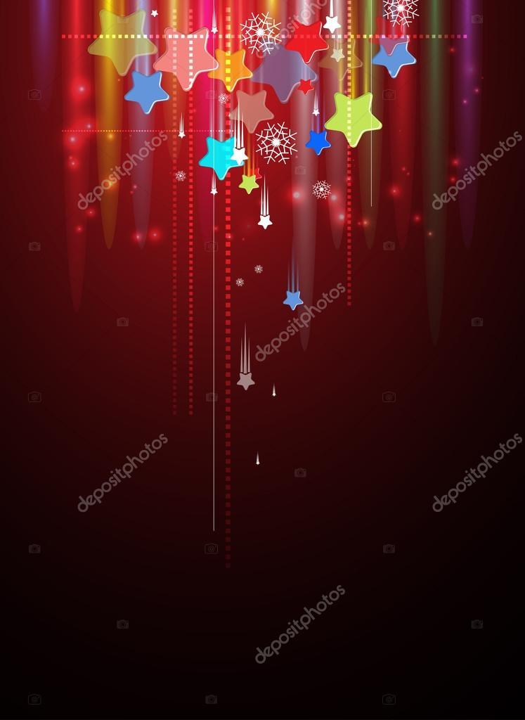 Abstract holiday sky star backround editable vector