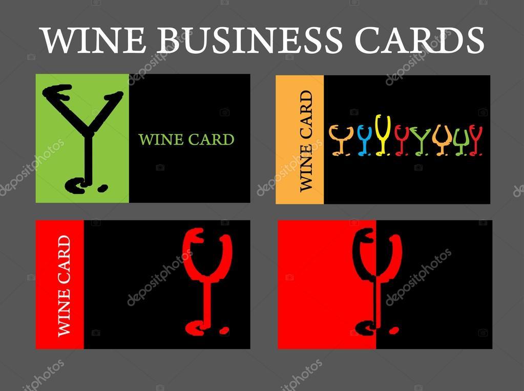 Jeu De Socit Carte Visite Vin Alcool Image Vectorielle