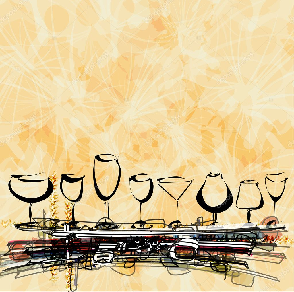 Wine card concept menu on peace of paper