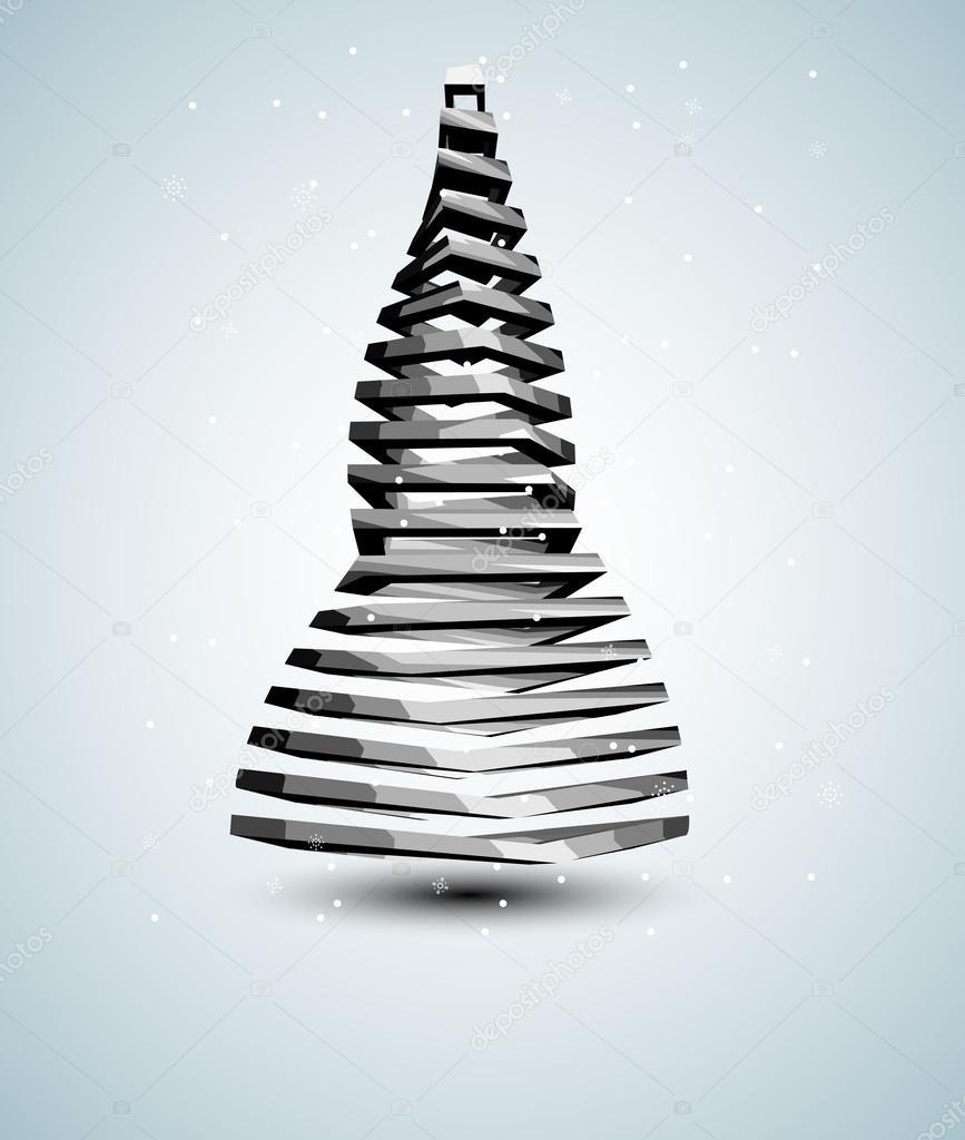 Abstract iron christmas tree card