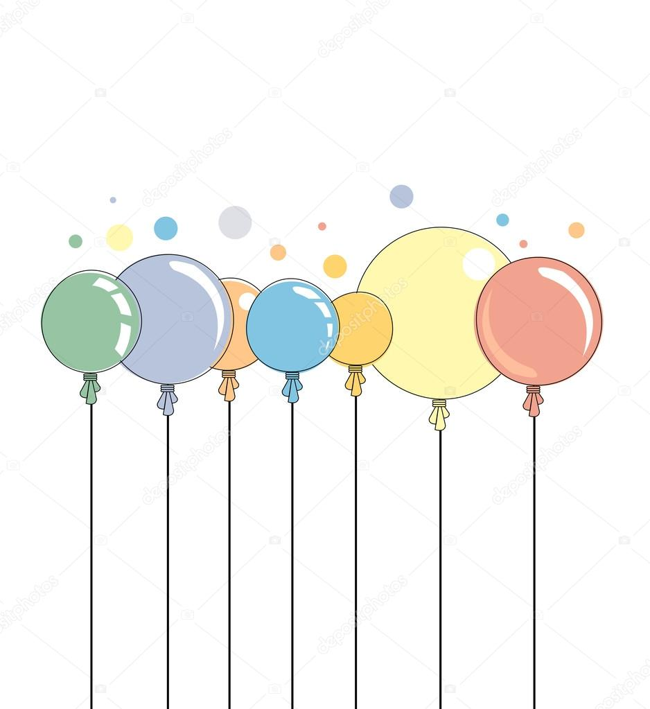 Abstract color shiny balloons border background