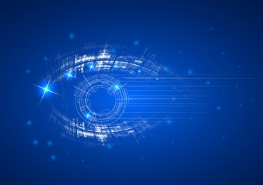 Abstract bright technology dynamic eye fade background