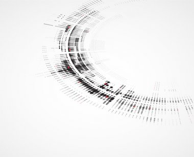 Abstract round technology dynamic fade background