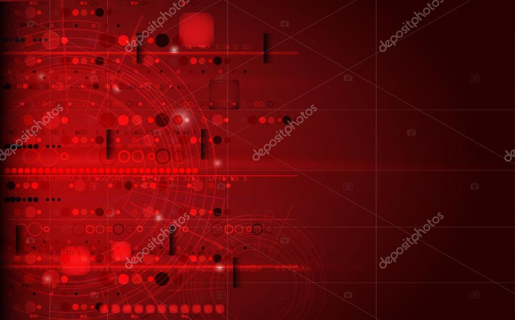 Abstract futuristic red computer technology business background