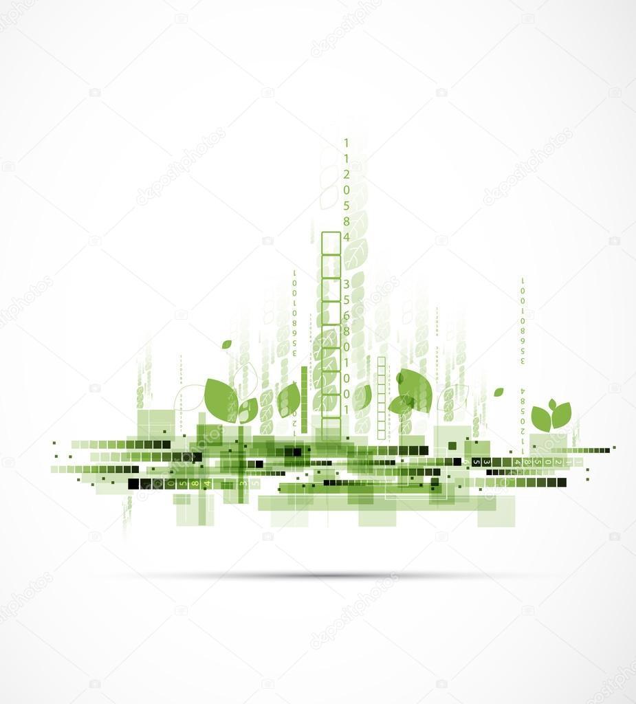 abstract eco futuristic high computer technology business backgr