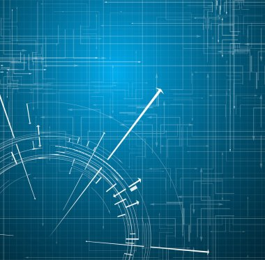 Abstract blue Technology circuit background vector illustration