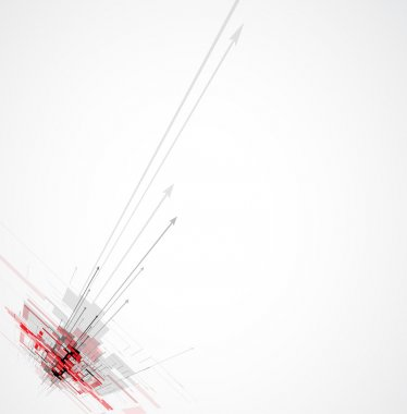 Abstract red arrow futuristic Technology circuit computer backgr