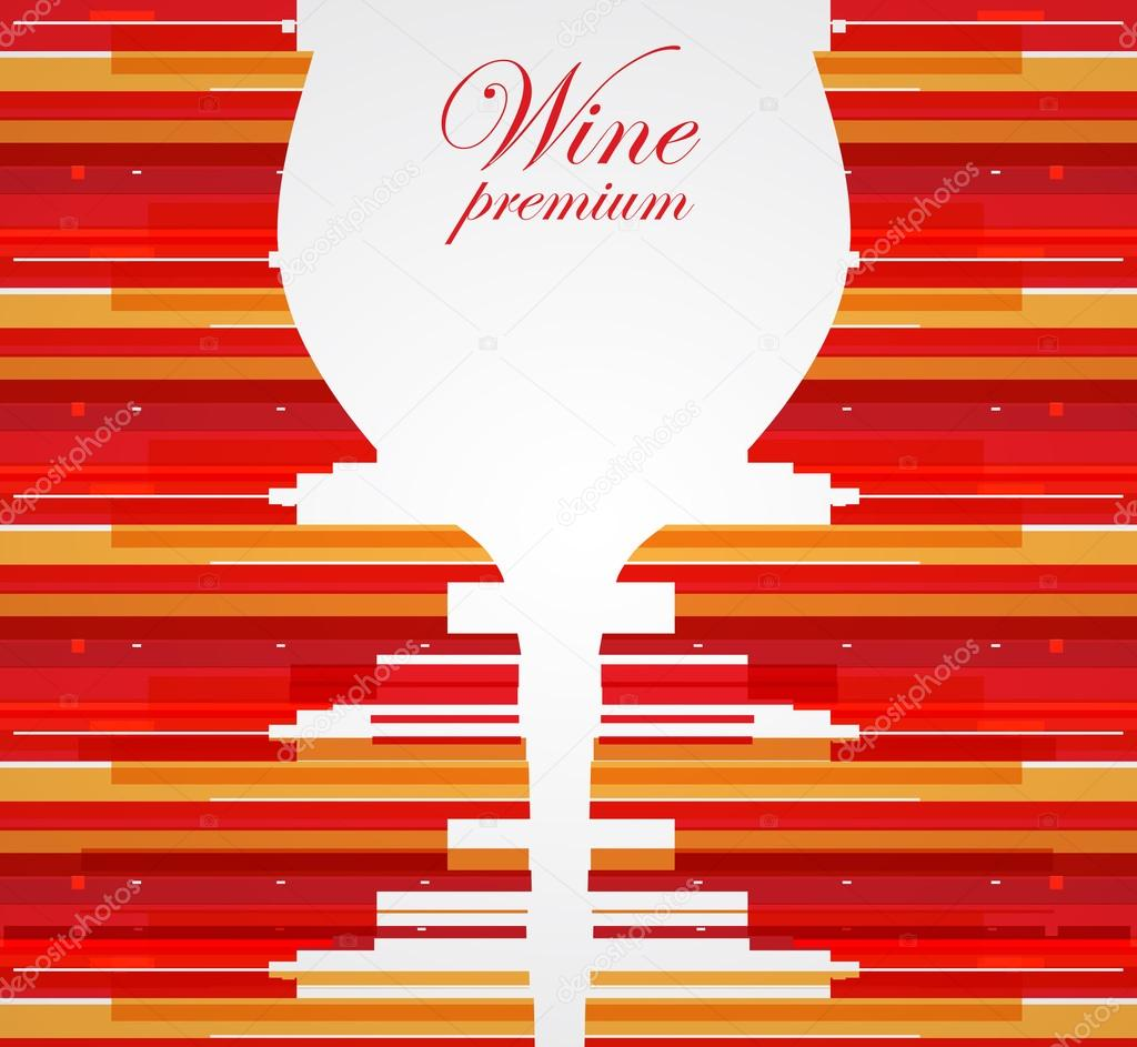 Wine menu card design background — Stock Vector © vska #26634127