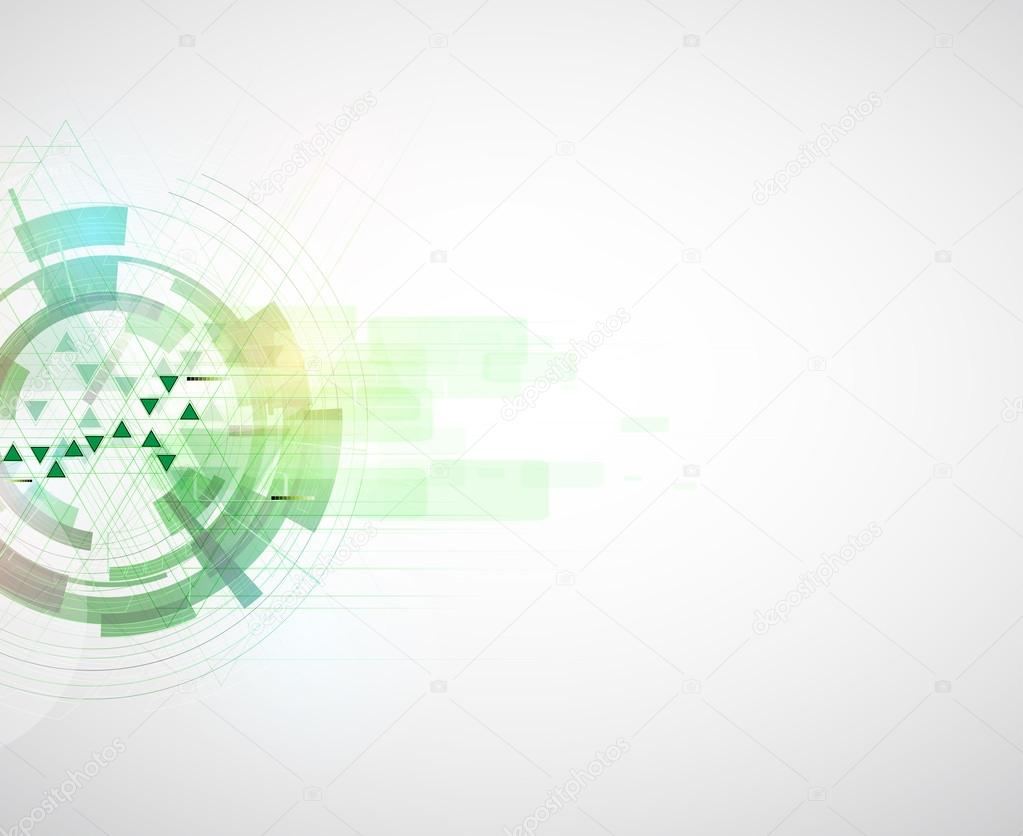high tech eco green infinity computer technology concept backgro