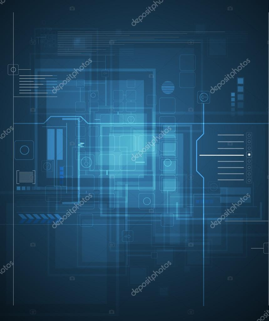 global infinity computer technology concept business background