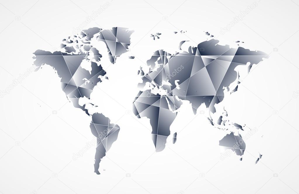 Fondo de mapa mundial en estilo origami vector de stock vska fondo de mapa mundial en estilo origami vector de stock gumiabroncs Gallery