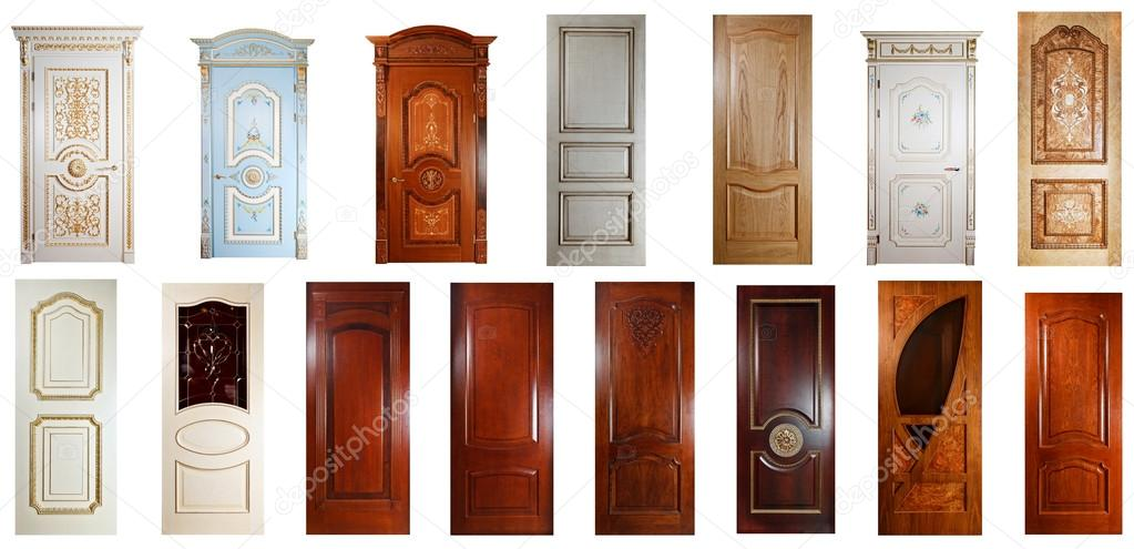 Set of handmade luxury doors. u2014 Stock Photo & Set of handmade luxury doors. u2014 Stock Photo © gromaler #12371690
