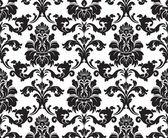 Vector. seamless pattern damascato. campione di tessuto. bianco e nero