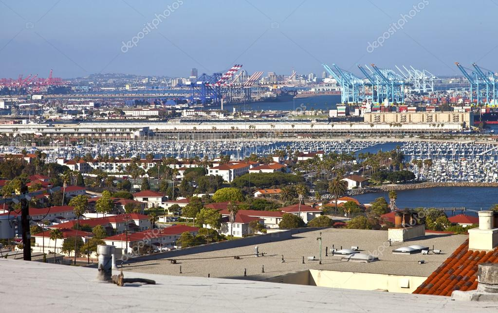 Port of Long Beach California industrial facility.