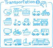 Photo Hand drawn transportation icon