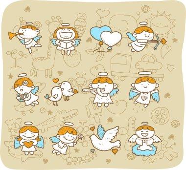 Angel icon set