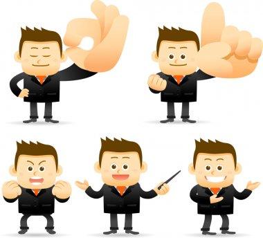 Businessman showing ok,
