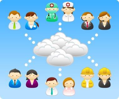 Business people, builders, nurses, doctors, architect