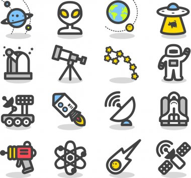 Universe ,Space icon set