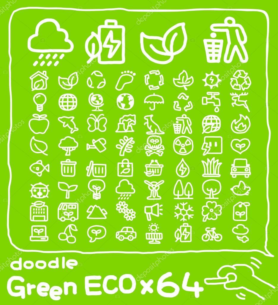 ECO,Environment ,Green icon set