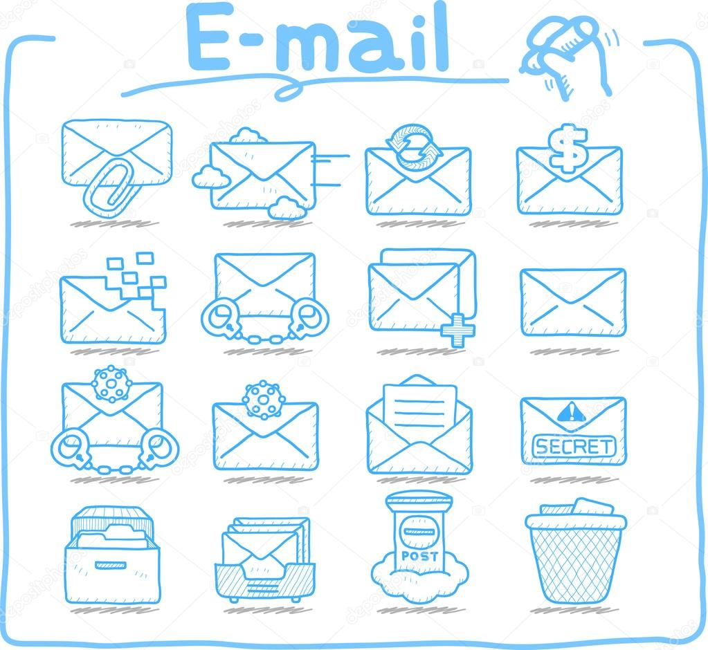 E-mail ,Business,Internet icon set